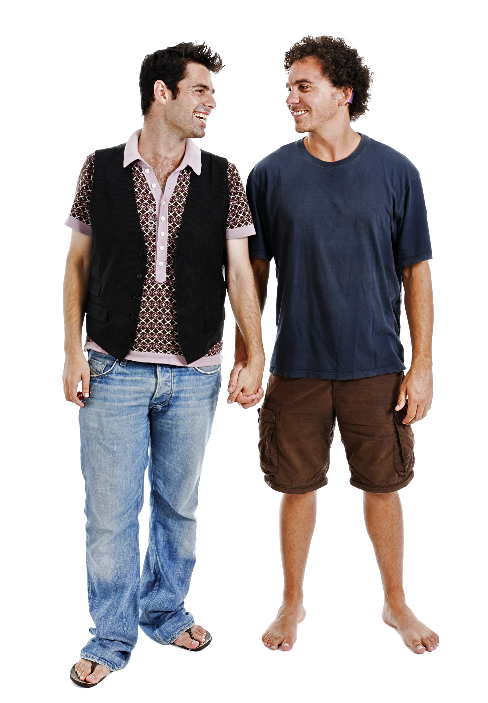 Standing gay gay